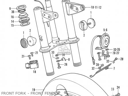 Honda Cf70 Chaly General Export England Australia France Front Fork - Front Fender