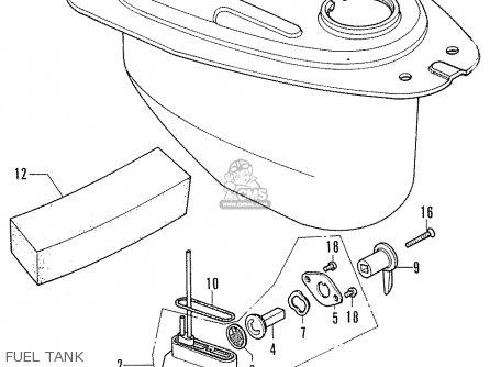 Honda Cf70 Chaly General Export England Australia France Fuel Tank