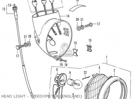 Honda Cf70 Chaly General Export England Australia France Head Light - Speedometer england