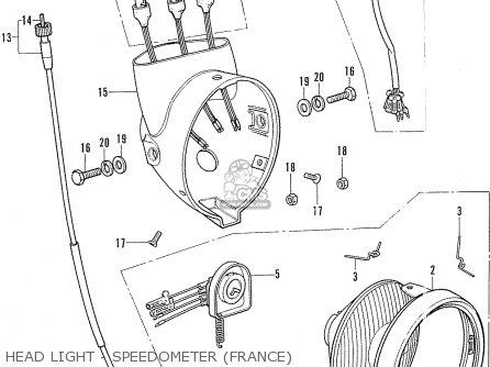 Honda Cf70 Chaly General Export England Australia France Head Light - Speedometer france