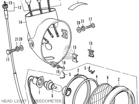Honda Cf70 Chaly General Export England Australia France Head Light - Speedometer