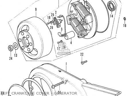 Honda Cf70 Chaly General Export England Australia France Left Crankcase Cover - Generator