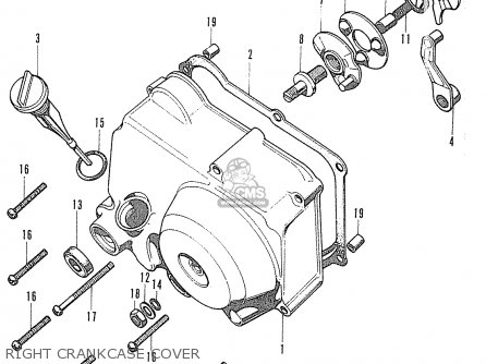 Honda Cf70 Chaly General Export England Australia France Right Crankcase Cover