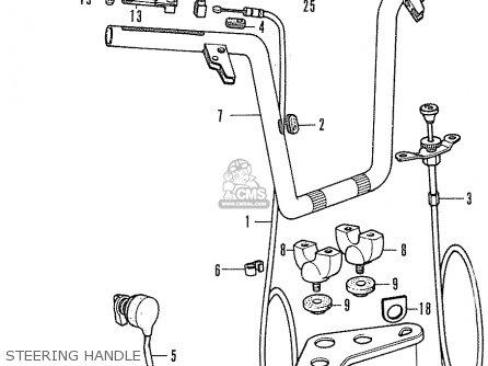 Honda Cf70 Chaly General Export England Australia France Steering Handle