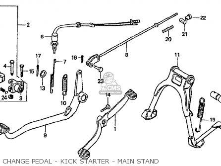 Honda Cf70c Japanese Home Market cf70-320 Change Pedal - Kick Starter - Main Stand