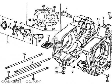 Honda Cf70c Japanese Home Market cf70-320 Crankcase - Oil Pump