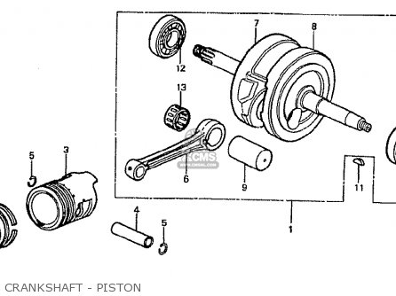 Honda Cf70c Japanese Home Market cf70-320 Crankshaft - Piston