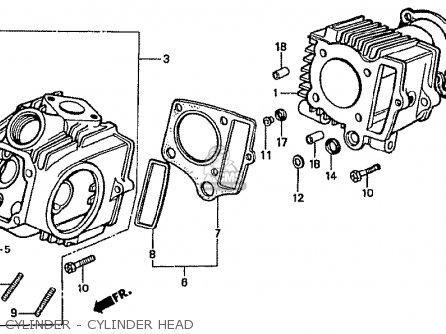 Honda Cf70c Japanese Home Market cf70-320 Cylinder - Cylinder Head