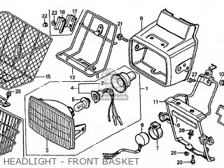 Honda Cf70c Japanese Home Market cf70-320 Headlight - Front Basket