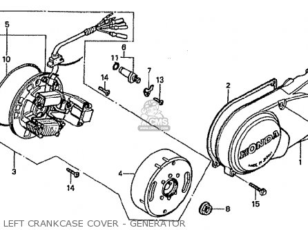 Honda Cf70c Japanese Home Market cf70-320 Left Crankcase Cover - Generator