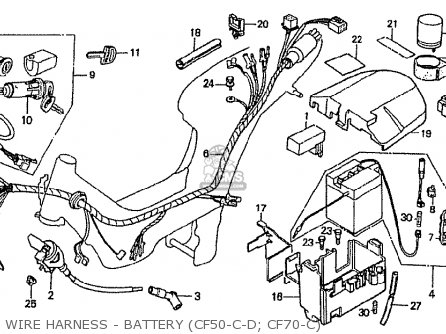 Honda Cf70c Japanese Home Market cf70-320 Wire Harness - Battery cf50-c-d  Cf70-c