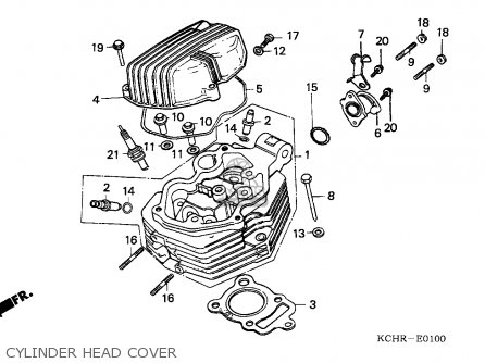 honda cg125 1995  s  england parts list partsmanual partsfiche