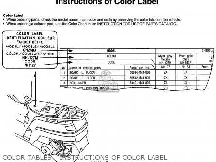 Honda Ch250 Elite 250 1985 f Usa Color Tables - Instructions Of Color Label