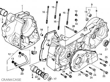 Honda Ch250 Elite 250 1985 f Usa Crankcase