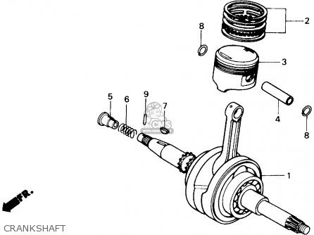 Honda Ch250 Elite 250 1985 f Usa Crankshaft