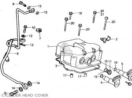 Honda Ch250 Elite 250 1985 f Usa Cylinder Head Cover
