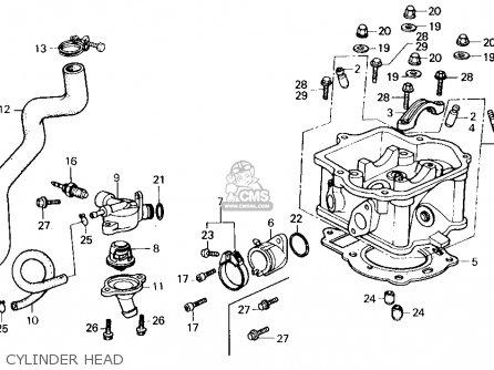 Honda Ch250 Elite 250 1985 f Usa Cylinder Head
