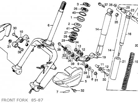 Honda Ch250 Elite 250 1985 f Usa Front Fork  85-87