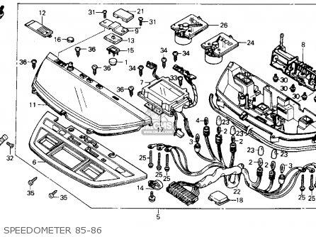 Honda Ch250 Elite 250 1985 f Usa Speedometer 85-86