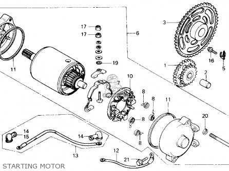 Honda Ch250 Elite 250 1985 f Usa Starting Motor