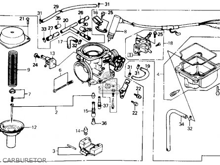 Honda Ch250 Elite 250 1985 Usa Carburetor