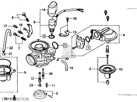 Honda Ch80 Elite 80 1985 f Usa Carburetor