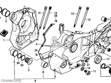 Honda Ch80 Elite 80 1985 f Usa Crankcase