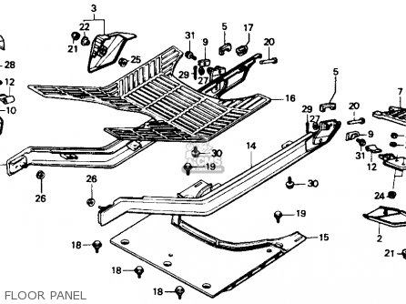 Honda Ch80 Elite 80 1985 f Usa Floor Panel