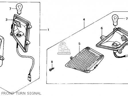 Honda Ch80 Elite 80 1985 f Usa Front Turn Signal