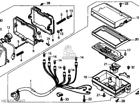 Honda 250x Carburetor Diagram