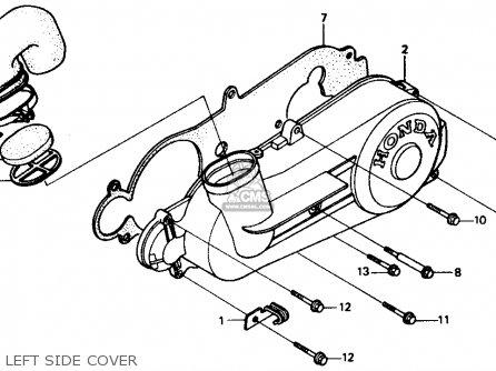 Honda Ch80 Elite 80 1985 f Usa Left Side Cover