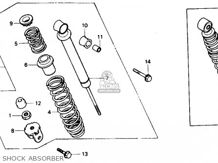 Honda Ch80 Elite 80 1985 Usa Shock Absorber