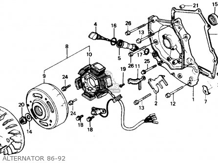1986 honda elite 80 wiring diagram honda ch80 elite 80 1986 (g) usa parts list partsmanual ... honda elite 50 wiring diagram