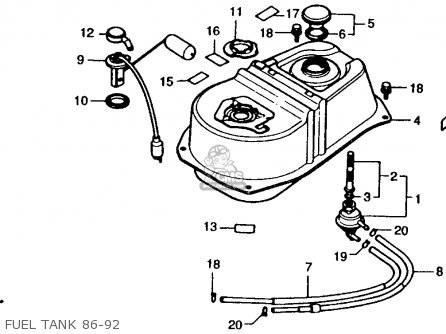 88 Honda Elite Scooter Engine Diagram
