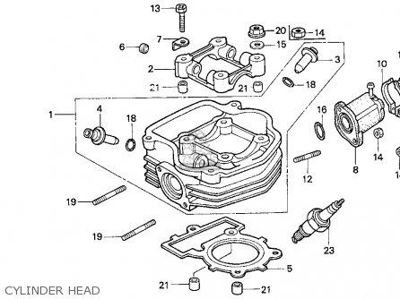 Honda Ch80 Elite 80 1996 t Usa Cylinder Head