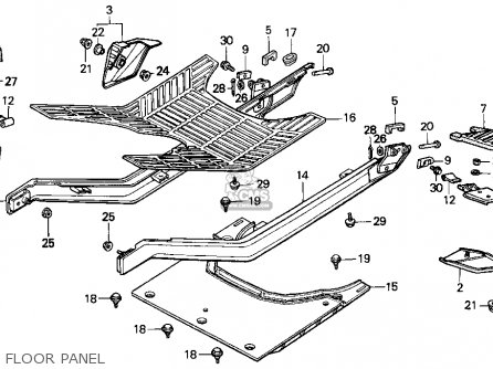 Honda Ch80 Elite 80 1996 t Usa Floor Panel