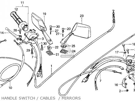 Honda Ch80 Elite 80 1996 t Usa Handle Switch   Cables    Mirrors