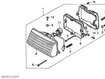 Honda Ch80 Elite 80 1996 t Usa Headlight