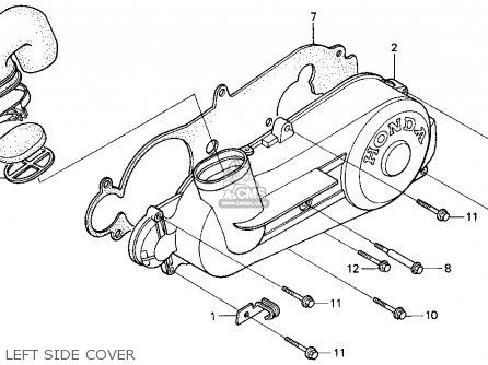 Honda Ch80 Elite 80 1996 t Usa Left Side Cover