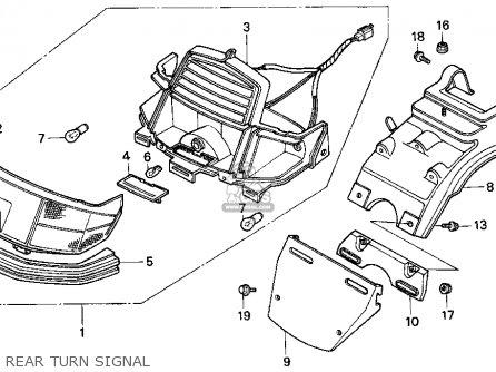 Honda Ch80 Elite 80 1996 t Usa Rear Turn Signal