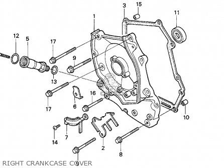 Honda Ch80 Elite 80 1996 t Usa Right Crankcase Cover