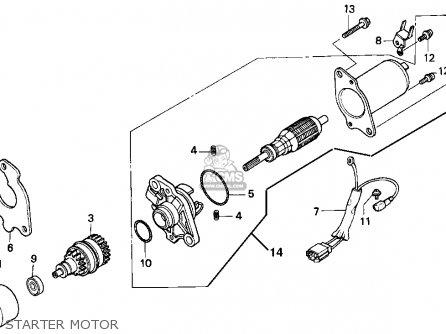 Honda Ch80 Elite 80 1996 t Usa Starter Motor