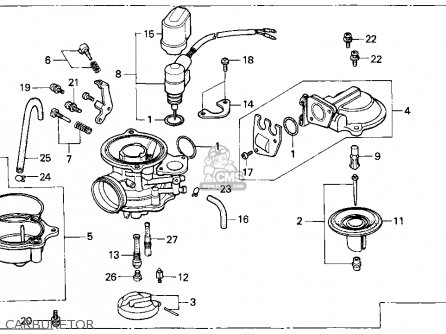 Honda Ch80 Elite 80 1996 Usa Carburetor