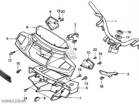 honda ch80 elite 80 1999 usa parts list partsmanual partsfiche. Black Bedroom Furniture Sets. Home Design Ideas