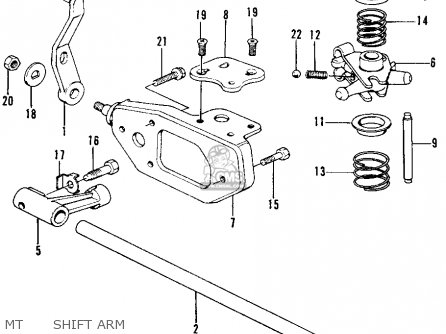 honda civic 1976 2dr1200  ka  parts list partsmanual