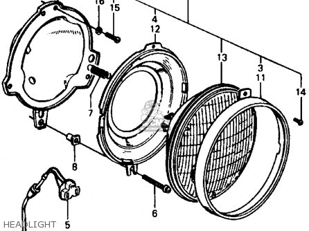 honda civic 1978 3dr1200  ka  parts list partsmanual