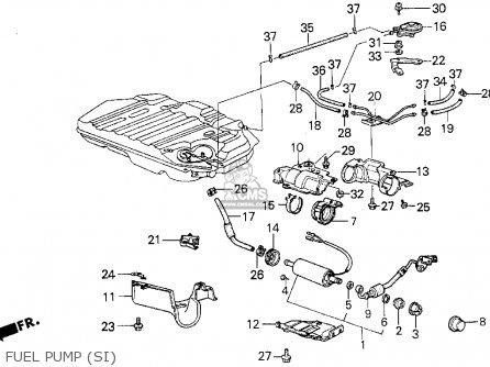 honda civic 1986 (g) 3dr si 1500 (ka,kl) parts lists and schematicsfuel pump (si)