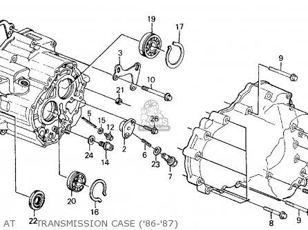 honda civic 1986 (g) 4dr gl (ka,kl) parts lists and schematics  cmsnl.com