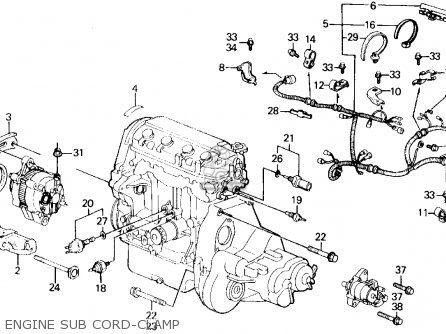 Partslist on 1995 honda civic ex fuse box diagram
