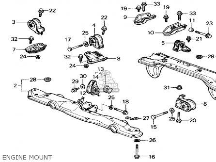 1990 honda civic motor mount diagram 6 Pin Trailer Wiring Diagram 1998 Blazer Wiring Diagram Liftgate Wiring Diagram